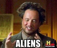 Giorgio A Tsoukalos. The Don King of the History Channel. Meme Alien, Ancient Aliens Meme, Aliens Guy, Best Memes, Funny Memes, It's Funny, Funny Shit, Funny Math, Hilarious Pictures