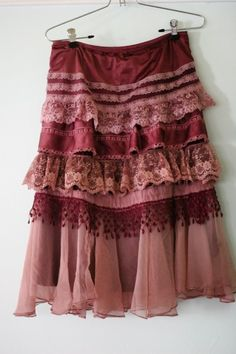 Merlot Skirt - would look beautiful dressed down with a t-shirt and boots or dressed up with a nice top, heels, and some jewelry.