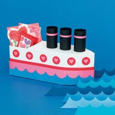"""Cutest card box ever--Its the """"love Boat""""...lol"""