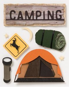 Karen Foster Camping Stacked Sticker
