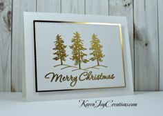 Gina K. Designs Blessed is the Season with Hero Arts Very Merry Christmas Card - Handmade Card