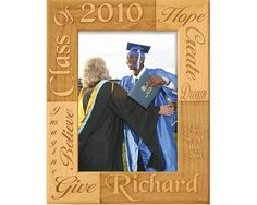 Looking for that perfect graduation gift for a loved one? This personalized graduation frame is the ideal way for your loved one to remember their accomplishment. This reversed engraved Alderwood frame from Gift Works Plus is personalized with the name, Graduation Frames, College Graduation, Personalized Graduation Gifts, Picture Engraving, Bright Future, New Chapter, Words Of Encouragement, Picture Frames, High School