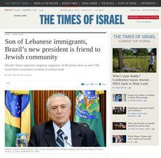 Tradução: Google Tradutor Filho de imigrantes libaneses, novo presidente no Brasi é amigo da comunidade judaica  Rio de Janeiro – A elevação de um vice-presidente centrista, Michel Teme…