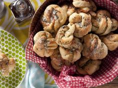 Buttery Garlic Herb Knots Recipe by Kelsey Nixon via @Angela Martin Channel