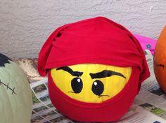 Ninjago pumpkin, tee shirt wrap for mask