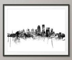 Louisville Skyline Louisville Kentucky Cityscape Art by artPause