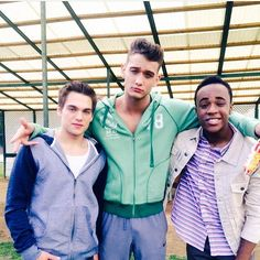 Dylan Sprayberry, Cody Saintgnue and Khylin Rhambo on the set of Teen Wolf Season 5!