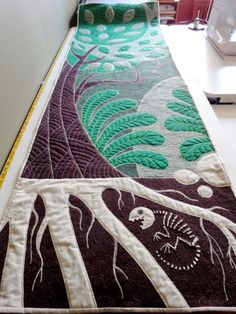 earthtre, death blogrinapaley, earth tree, life death, art quilt, trees, death tree, quilt art, nina paley