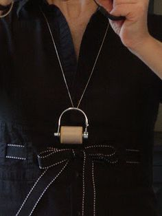 Sew Many Ways...: Tool Time Tuesday...Sewing Necklace With Nuts and Bolts