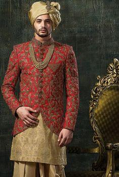 Vastra Mens Indian Wear, Indian Groom Wear, Indian Men Fashion, Mens Fashion Wear, Men's Fashion, Wedding Dresses Men Indian, Wedding Dress Men, Wedding Suits, Trendy Wedding