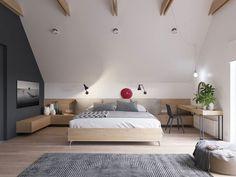 Geräumiges Schlafzimmer mit Dachschräge