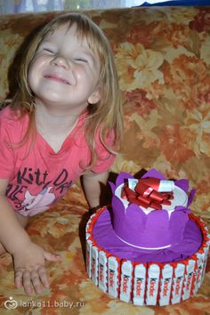 МК подарок торт из конфет за 5 минут своими руками