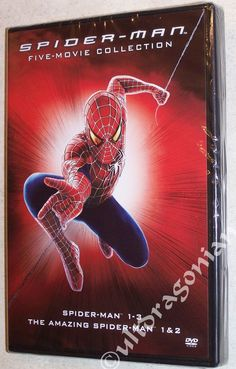 New all 5 movies are now in one great set! SPIDER-MAN 5-Movie Collection: 1, 2 & 3 + The Amazing Spider-Man 1 & 2 DVD - NEW