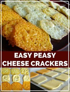 Easy Peasy Cheese Crackers | healthylivinghowto.com / #lowcarb shared on https://facebook.com/lowcarbzen: