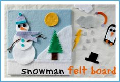 how to make a winter felt board for kids