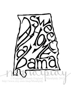 Sweet Home Alabama White Background 8 x 10 by Mandipidy on Etsy