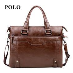 새로운 브랜드 polo 남성 정품 가죽 메신저 가방 빈티지 크로스 바디 가방 남성 어깨 가방 패션 우체부 서류