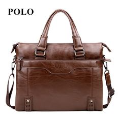new Brand POLO men's genuine leather messenger bags vintage crossbody bag men shoulder bag fashion postman briefcase * Click the VISIT button to view the details