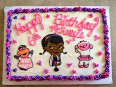 A simple Doc McStuffins Cake! Hope I'll be able to make one myself! ;) @ Amanda 4 Finlee