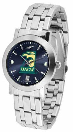 North Carolina (Wilmington) Seahawks Dynasty AnoChrome Men's Watch by SunTime. $84.99. Scratch Resist Face. Date Display. Stainless Steel Case. Elegant design for the modern man who wants to show their North Carolina (Wilmington) Seahawks spirit! The dial is presented in a sleek, stainless steel case and bracelet that rests fashionably yet comfortably across the wrist. Features a convenient date display, quartz accurate movement and a scratch resistant mineral c...