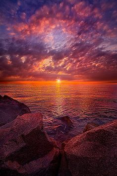"""Dreams Within Dreams""Sunrise over Lake Michigan. by Phil Koch Amazing Sunsets, Amazing Nature, Nature Images, Nature Pictures, Beautiful World, Beautiful Images, Landscape Photography, Nature Photography, Photo Voyage"