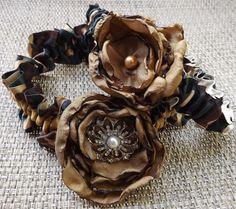 Camo Wedding Bridal Garter Set Camouflage Garter by Weddingzilla, $35.00