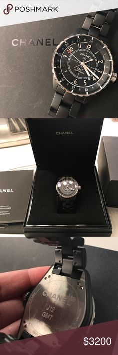 Authentic Chanel J12 Chanel J12 GMT automatic 2 years old, only used 5 times. It was a gift from an ex boyfriend. CHANEL Accessories Watches