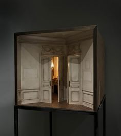 Charles Matton- Enclosures... - handmade miniature interiors