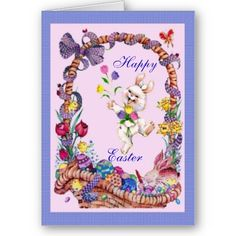 #cards #easter #zazzle #elenaindolfi Easter Basket Card by elenaind
