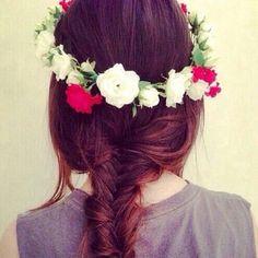 #corona #flores #trenzas #summer