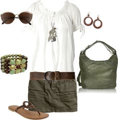 """Army Green and Brown"" by sapple324 on Polyvore"