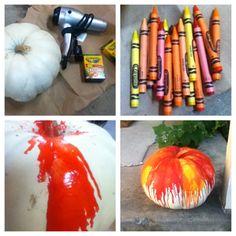 Crayon Art Pumpkin!