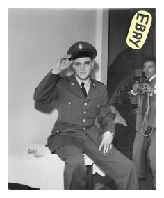 """Private Elvis Presley photographed at Ritters Park Hotel in Bad Homburg, Germany, first weekend in October 1958 (Oct 4-5) 