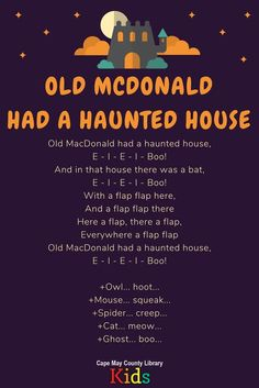 Fun Halloween song for kids - Old MacDonald Had a Haunted House
