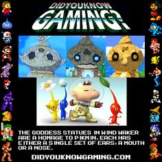 Pikmin Statues in Wind Waker? Nintendo Characters, Nintendo Games, Gaming Facts, Video Game Facts, Video Game Companies, Pokemon, Retro Videos, Wind Waker, Super Smash Bros