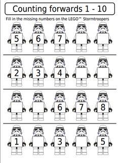 Star Wars Maths Shed - Printable Star Wars - Ideas of Printable Star Wars #starwars #printable #files - Homeschool Kindergarten, Preschool Learning, Preschool Activities, Homeschooling, Preschool Homework, Pirate Preschool, Teaching, Star Wars Classroom, Anniversaire Star Wars
