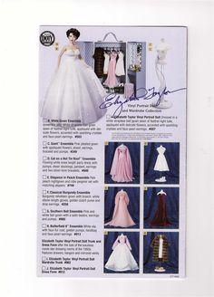 Franklin Mint Elizabeth Taylor Vinyl Doll Trunk 6 Outfits New COA's Extra Media   eBay