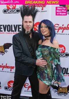 Tera Wray, the widow of former Static-X frontman Wayne Static, was found dead on Jan. 14 at the age of the 33 after allegedly committing suicide. Wayne Static, Static X, Tera Wray, Thick And Thin, Awesome Hair, Hollywood Life, Interesting Faces, Fun To Be One, Music Bands