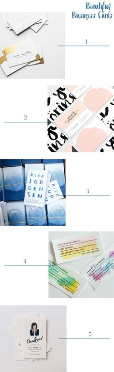 Business Card Inspiration via Oh So Beautiful Paper