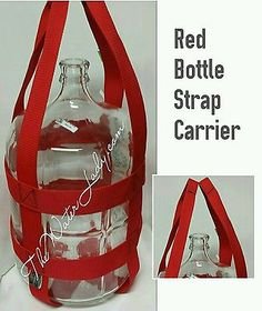 6 Gallon Water Bottle Strap Carrier. BOTTLE NOT INCLUDED Carry with ease!
