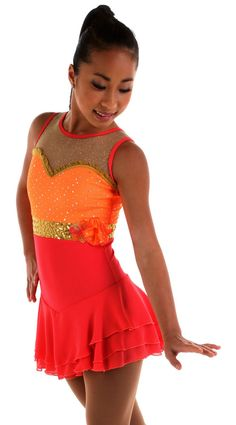 NEW COMPETITION SKATING DRESS Elite Xpression1528 MADE ORDER 3 WEEKS FABRICATION