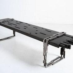 Industrial Modern Bench by Anton Maka