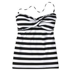 I'm running to Target right now.  Crossing my fingers they still have this! Black and White Stripe Tankini
