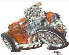 chris froggett car art | Chris Frogett hot rod artist