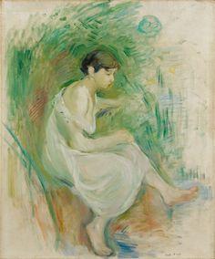 Baigneuse En Chemise - 1894 de Morisot Berthe - Huile sur toile - CollectionPrivée-Galerie.com