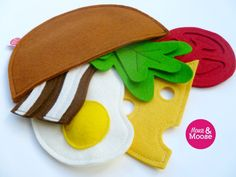 Eco Friendly Wool felt play pita for pretend play and play kitchens. Felt play food for children's kitchens and inspired play Kitchen Mouse, Childrens Kitchens, Moose Toys, Felt Play Food, Pita, Montessori Toys, Play Kitchens, Pretend Play, Handmade Toys