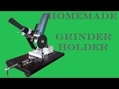 supporto smerigliatrice fai da te (homemade angle grinder stand) - YouTube