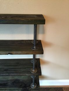 Reclaimed Bookcase with Industrial Piping, Industrial Shelving