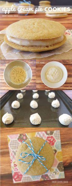 Apple Cream Pie Cookie recipe (cookies with apple cream filling)