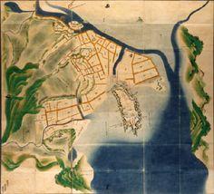 豊後之内臼杵城絵図 An old map of  Usuki-jo caslte #Japanese castle